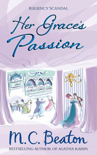 Cover of Her Grace's Passion by M.C. Beaton