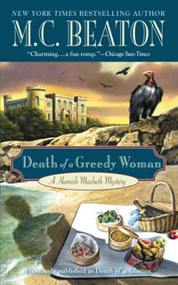 Cover of Death of a Greedy Woman by M.C. Beaton