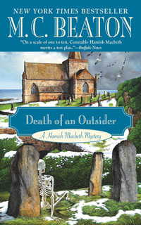 Cover of Death of an Outsider by M.C. Beaton