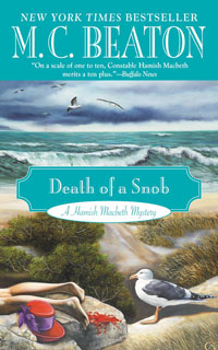 Cover of Death of a Snob by M.C. Beaton