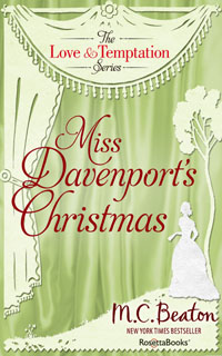 Cover of Miss Davenport's Christmas by Marion Chesney