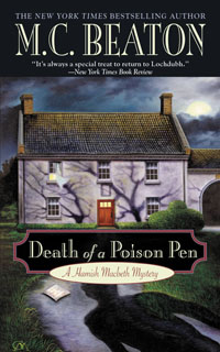 Cover of Death of a Poison Pen by M.C. Beaton